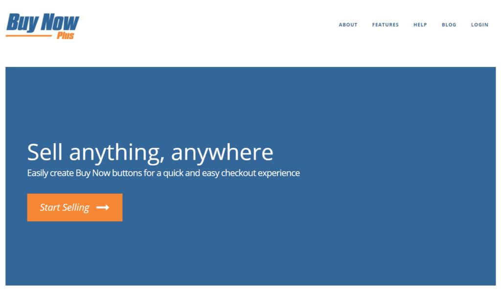 Screenshot of the Buy Now Plus homepage