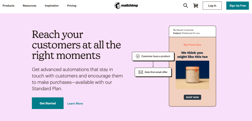 Top tools for small businesses include the Mailchimp platform.