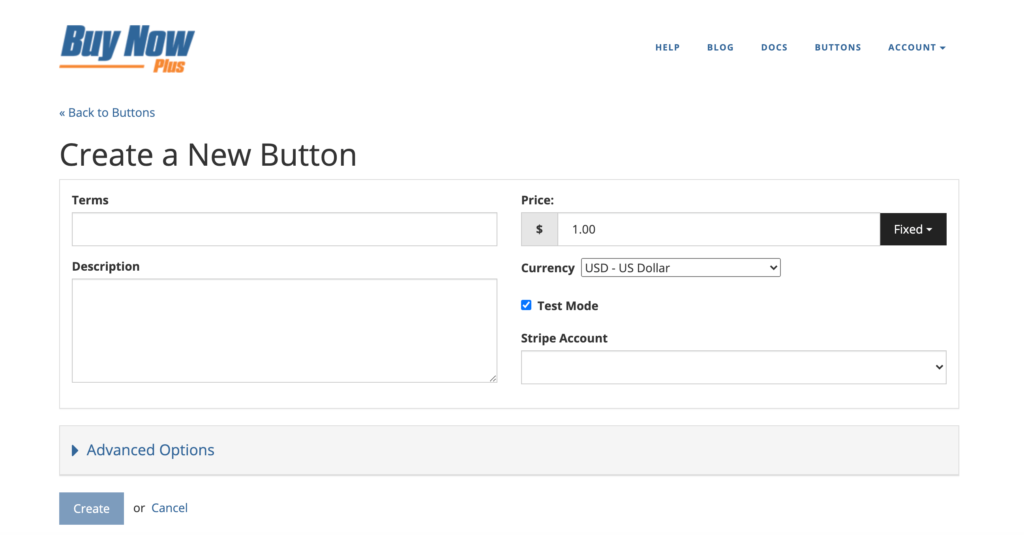 The Buy Now Plus dashboard.
